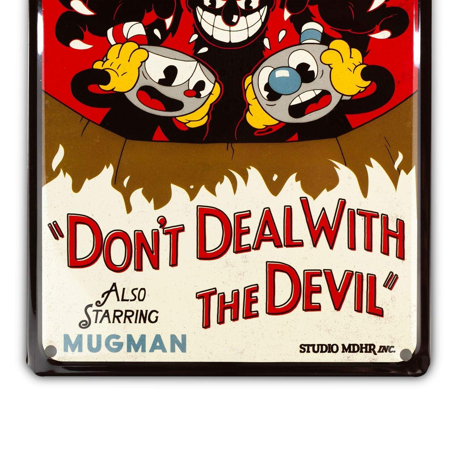 Cuphead Collectibles | Cuphead Dont Deal with The Devil Tin Sign ...