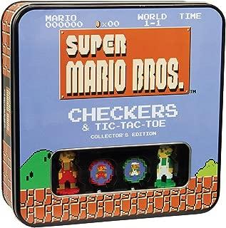 USAOPOLY Super Mario Bros Checkers & Tic-Tac-Toe Collector's Edition Board Game