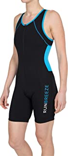 RunBreeze Women's Triathlon Suit | Breathable, Quick-Drying Tri Suit with Dual Rear Pockets