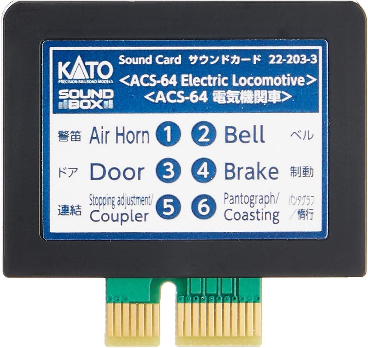 Kato 22-203-3 UNITRACK Sound ACS-64 Card Max 44% OFF Max 46% OFF Electric Locomotive