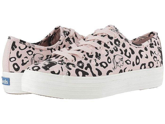 Keds   x Betty and Veronica Triple Kick Leopard (Pink/Black) Womens Shoes