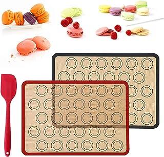 Fyfjur Tapis de Cuisson en Silicone, Set de Table en Silicone,Tapis de Four pour Macaron, Réutilisable, sans BPA Toile Feu...