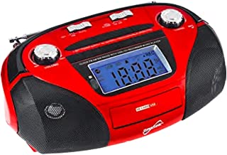 Supersonic SC-1396 Portable MP3 Speaker with USB/SD/AUX INPUTS, AM/FM Radio & Rechargeable Battery (Red) photo