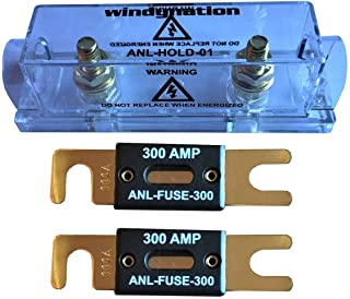 WindyNation ANL Fuse Holder + ANL Fuse (2pcs 300A Fuse)