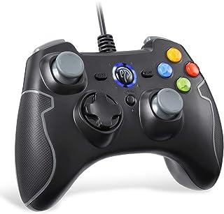 EasySMX - Palanca de Mando con Cable con Turbo de Doble vibración y Botones de Disparo para Windows/Android/PS3/TV Box