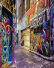 AOFOTO 8x10ft Street Graffiti Wall Photography Background Grunge Colorful City Alley Backdrop Fashion Party Decoration Punk Music Rock Concert Hip Hop Rap Fashion Portrait Photo Studio Props Wallpaper