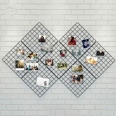 AmaZeus Photo Grid Decoration Iron Metal Room Wall Hanging Holder Racks, Size:20x20cm Pack of 1