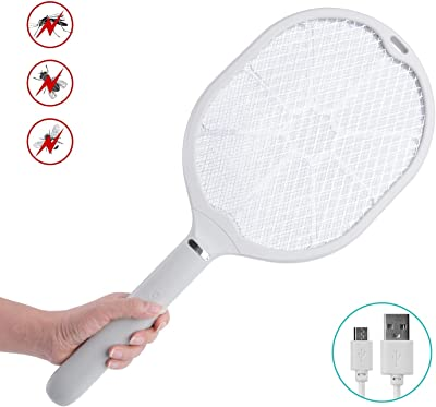 mafiti Electric Bug Zapper Fly swatter Racket Rechargeable Insect Swat Handheld Indoor Outdoor Home Use