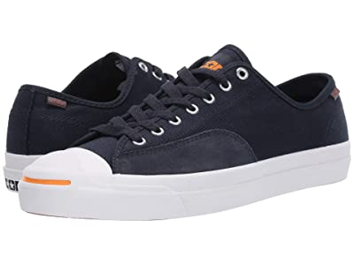 Converse Jack Purcell Pro Workwear Twill Ox (Dark Obsidian/White/Orange Rind) Shoes
