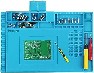 Alfombrilla para Soldadura, Preciva Silicon Pad Ideal para Trastear Tapete Antiestatico para Reparacion Moviles, etc ( 45*30 cm )