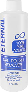 Eternal 100% Pure Acetone – Quick Professional Ultra-Powerful Nail Polish Remover for Natural, Gel, Acrylic, Shellac Nails...
