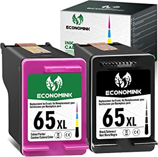 Economink Remanufactured Ink Cartridge Replacement for HP 65XL 65 Black Color Combo Pack for Envy 5055 5070 5000 5052 5010...