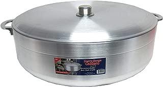 Uniware Heave Duty Aluminum Calderon / Pot with Aluminum Lid Cover, Silver (29.6 Qt)