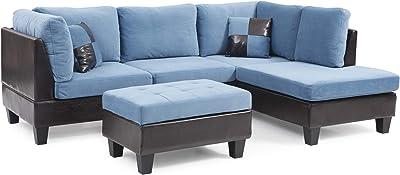 Amazon.com: poundex f6555 bobkona Alwin sofá y Loveseat ...