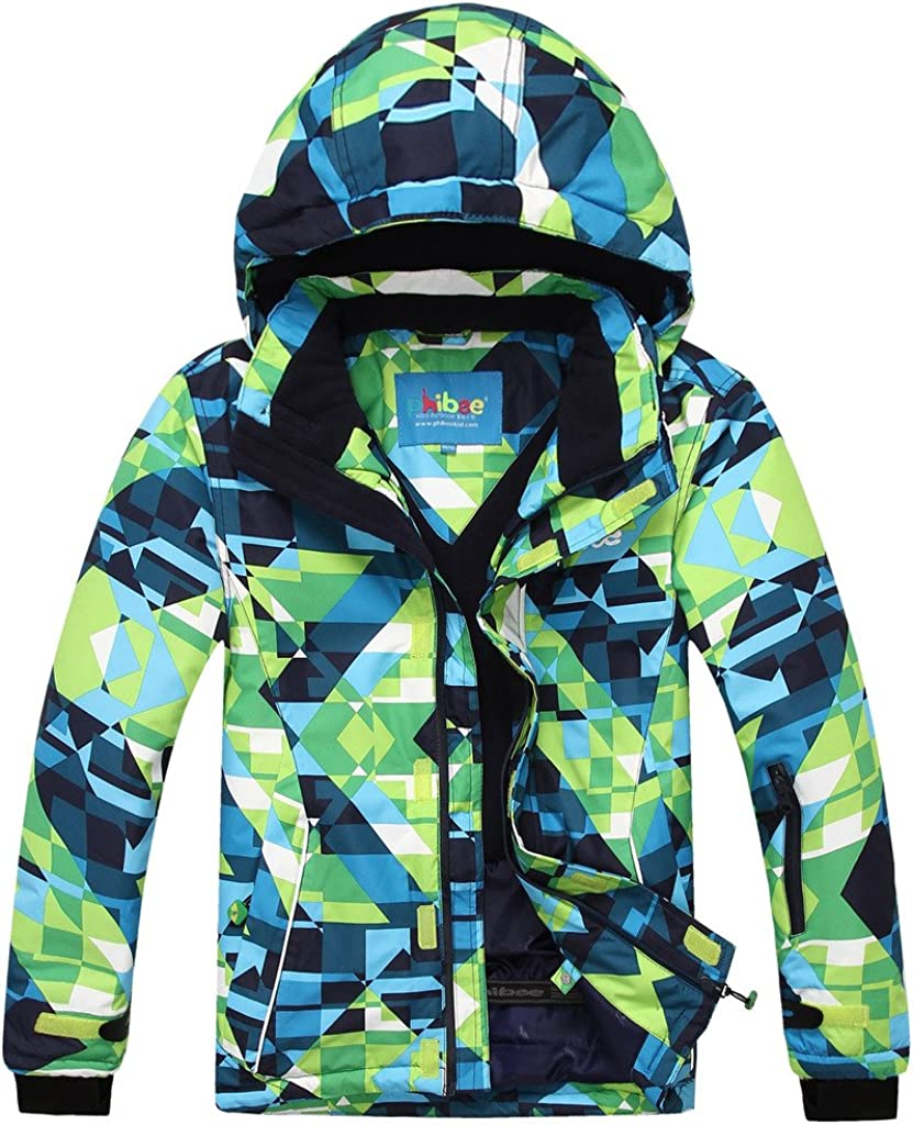 PHIBEE Big Shipping included Boy's safety Waterproof Ski Jacket Snowboard Breathable