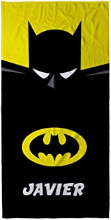 LolaPix Toalla Batman Personalizada con Nombre. Toalla Infantil niño o niña. Regalo Original. Varios Diseños y Tamaños. Batman