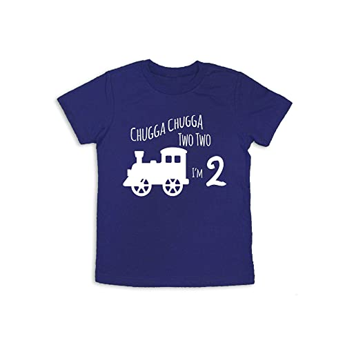 Oliver And Olivia Apparel 2nd Birthday Shirt Train Two Years Old