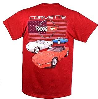 Joe Blow C4 Corvette RWB Flag Short Sleeve T-Shirt