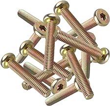 HALJIA Inbus zeskant M6 platte kopschroeven, voor meubels, 20 stuks M6*35MM