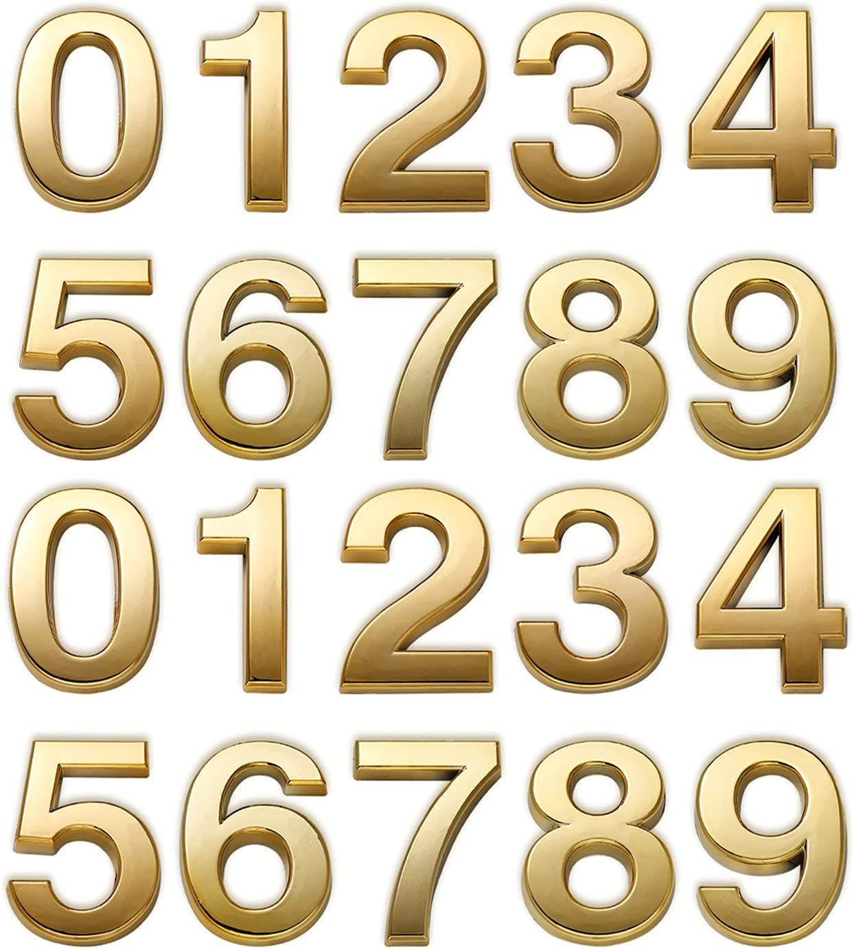 3 Inch Mailbox Numbers Gold for House Los Angeles Mall Door Ranking TOP9 address Hom
