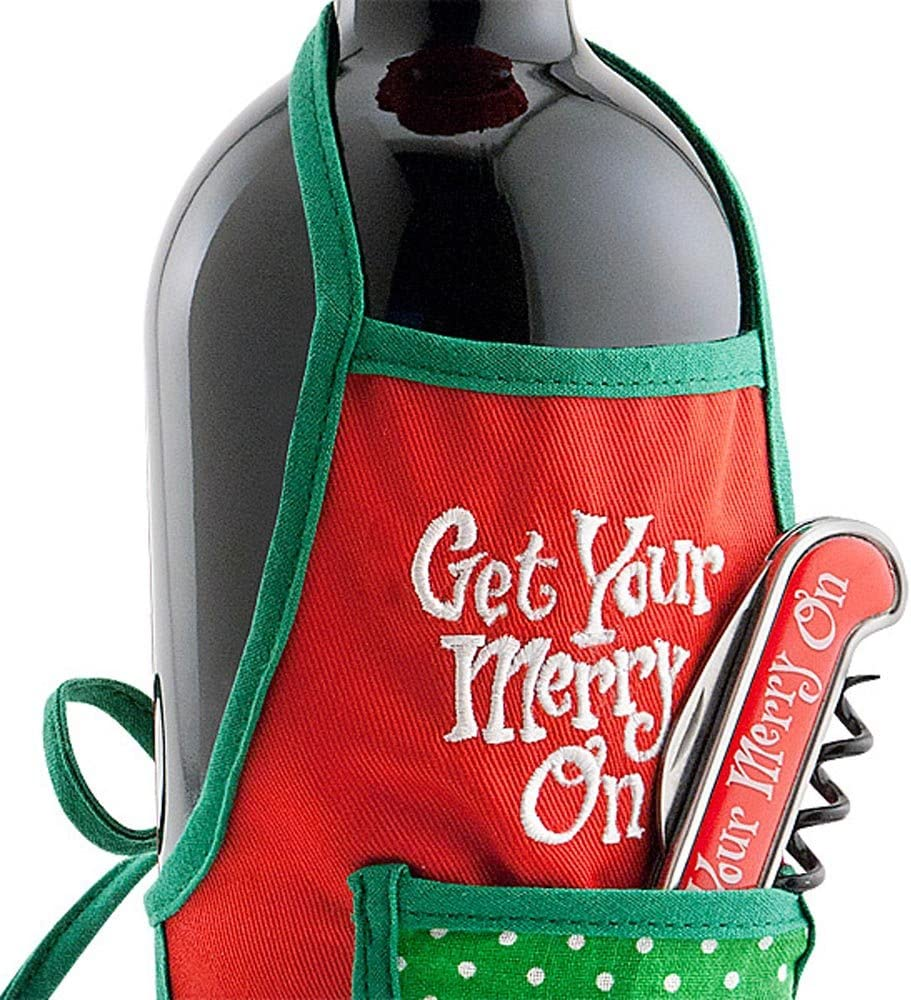 Christmas Wine Gift Set Apr Credence with Bottle Bargain sale Corkscrew