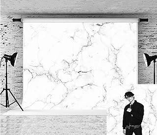 Little Lucky Fotohintergrund mit weißen Marmorstrukturen, Natursteinen, für Fotostudio, Requisite, Marmorweiß, 7x5ft