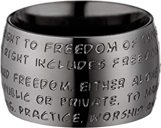 GILARDY Human Rights Ring R1 Stainless Steel Engraving Human Rights