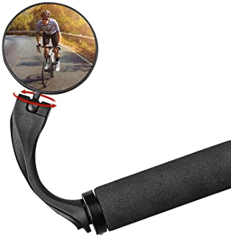 YSISLY Bicycle Mirror Rear View Mirror Handlebar Mirror Bicycle Mirror Rear View Mirror Adjustable Wide Angle Cycling Steering Mirror for MTB Bike Motorcycle E-Bike