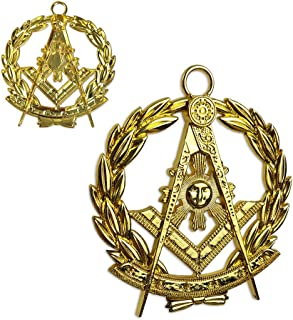 Masonic Past Master Chain Collar Jewel Gold Plated