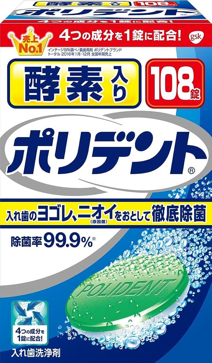 払い戻しホテルサロン入れ歯洗浄剤 酵素入り ポリデント 108錠