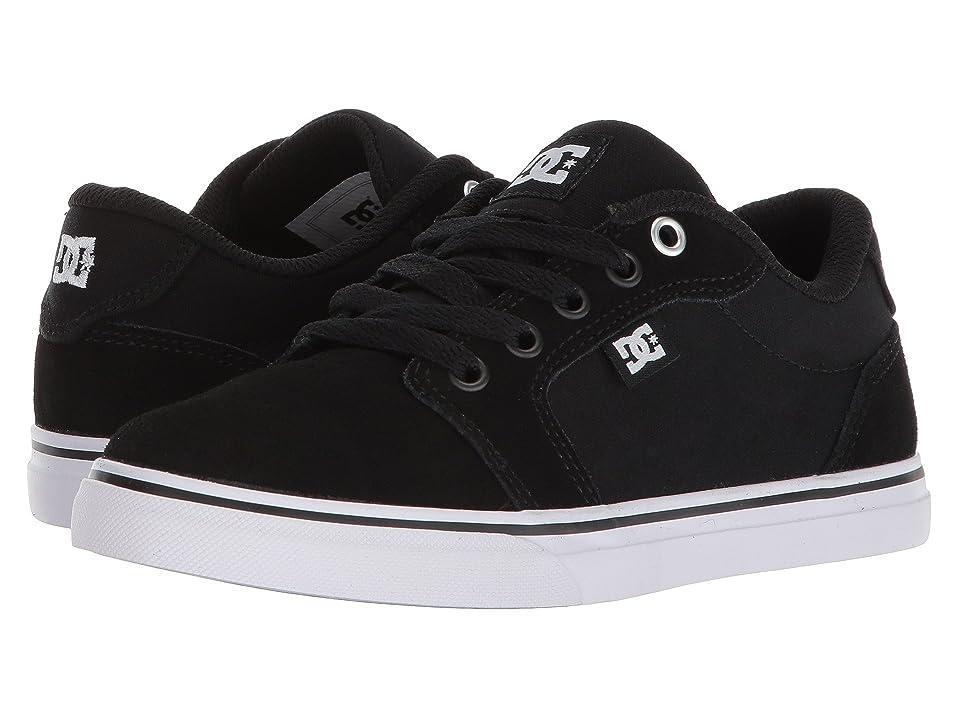 DC Kids Anvil (Little Kid/Big Kid) (Black/White/Black) Boys Shoes