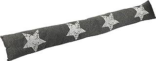 com-four® Tope de Tiro, Cortavientos con Estrellas, 87 x 10 cm (01 Piezas - Estrella Gris Oscuro V2)