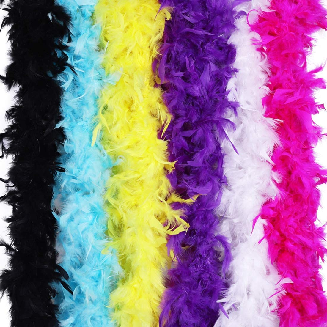 Max Fun 6PCS 6.56FT Colorful BOA Girls Feather Party 53% Some reservation OFF Boa