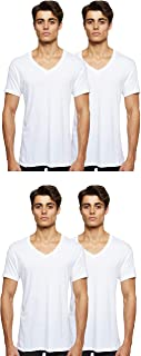 Hanes Mens Comfort Fit V-neck Undershirt 4-pack Underwear (pack of 4)