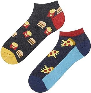 soxo, Calcetines de Color para Hombre | Talla 40-45 | Calcetines Algodón Largos con Dibujos Graciosos | Perfectos para Zapatos y Botas