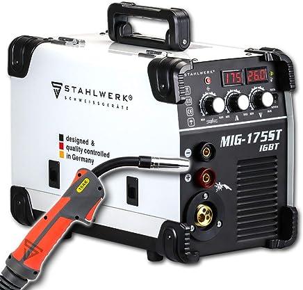 STAHLWERK MIG 175 ST IGBT - Equipo de soldadura de gas de protección MIG MAG con