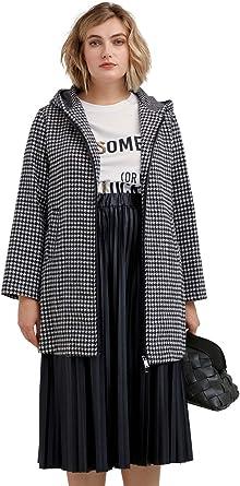 FIORELLA RUBINO : Cappotto Black And White Donna (Plus Size)