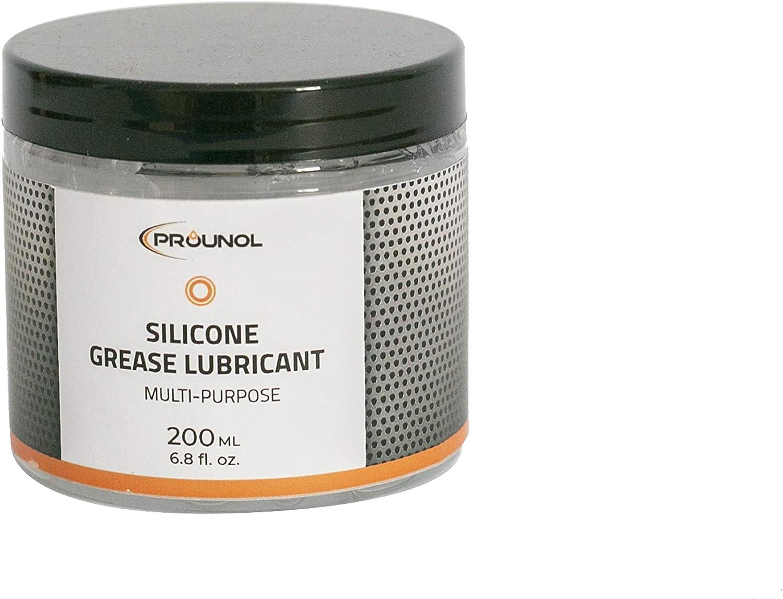 100% Grasa de silicona PROUNOL, grasa (crema) dieléctrica de uso general, grasa de caucho HT impermeable. 200 ml