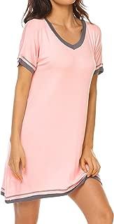 Nightdress Womens Cotton Sleepwear Short Nightgowns Knit Sleepshirts S-XXL