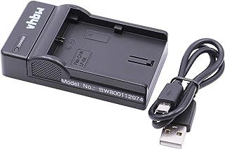 vhbw USB-acculader geschikt voor Canon LP-E6, LP-E6N digitale camera, camcorder, actiecamera-accu - laadschaal