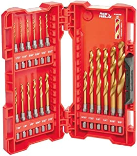 Milwaukee 48-89-4680 18-Piece Shockwave Impact Duty Thunderbolt Titanium Drill Bit Set w/ Anti-Walking 135 Degree Angled Tip and Storage Case