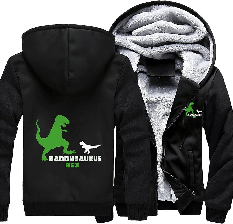 Daddysaurus Sales of SALE NEW items from new works Rex Men's hoodie warm jacket winter fleece