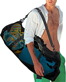 RIMSports Mesh Duffle Dive Bag - Scuba Bag for Diving Equipment - Foldable Diving Bag with Side Pockets and Zippers - Heav...