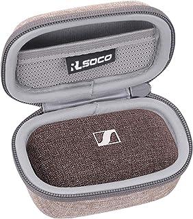 RLSOCO Bärväska till Sennheiser MOMENTUM True Wireless2 / Wireless Bluetooth öronsnäckor (Beige)