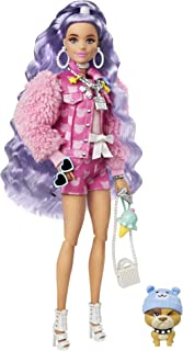 Barbie Extra Doll Millie with Periwinkle Hair, Gift for Kids 3 Years Old & Up GXF08, Multi colour