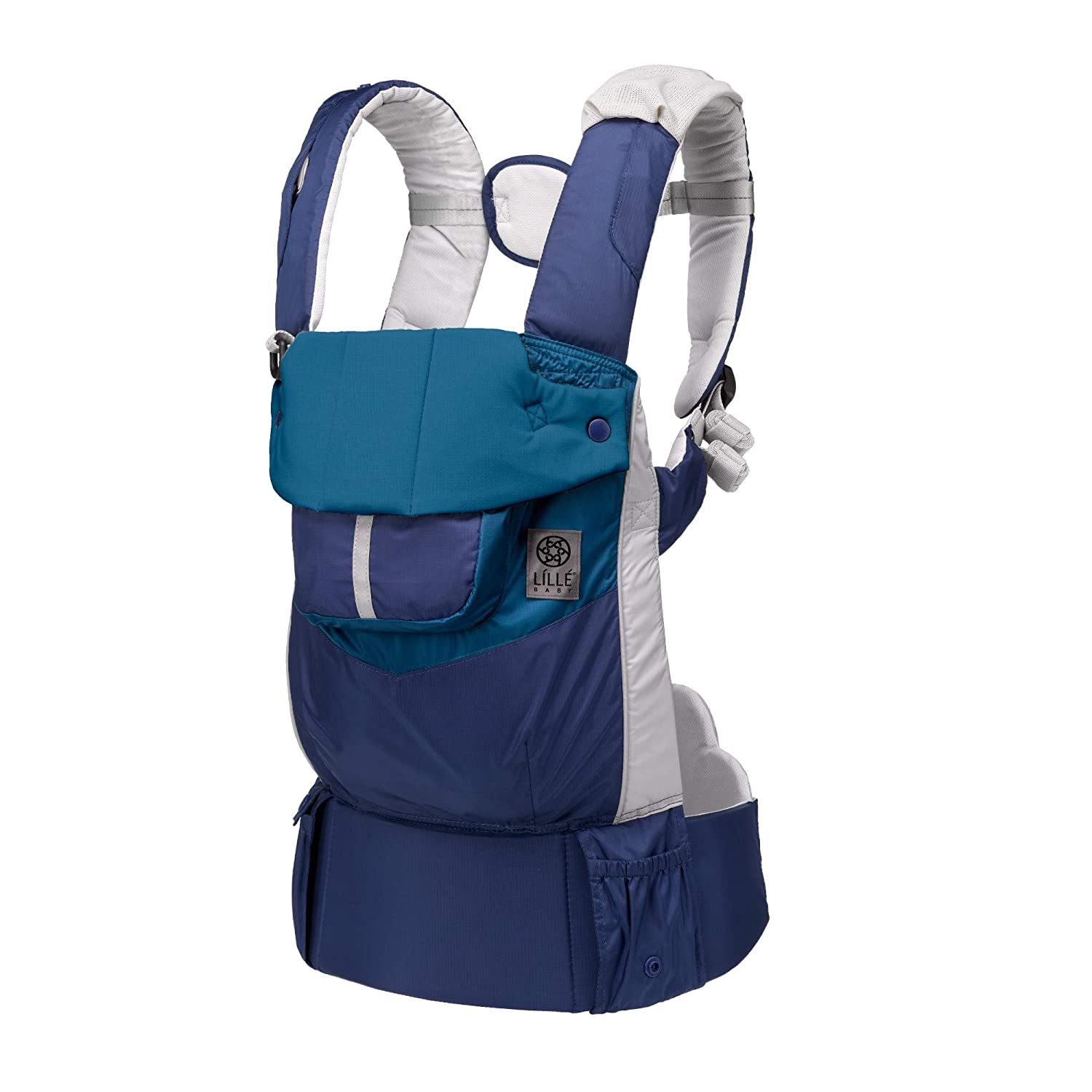 LÍLLÉbaby Pursuit Sport Lightweight All-Positions Ergonomic Baby and Child Carrier with Lumbar Support, Water