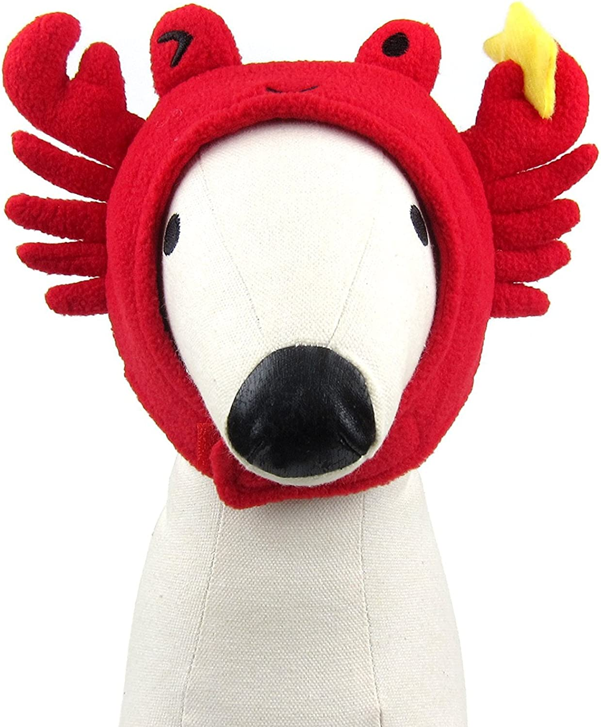 Alfie Pet  Aspen Hat for Party Halloween Special Events Costume (for Small Dogs & Cats)  Pattern  Crab, Size  Large