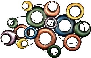 Bellaa 21840 Abstract Metal Wall Art Modern Contemporary Deco 33 Inch
