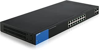 Linksys Business LGS318P 16-Port Gigabit PoE+ (125W) Smart Managed Switch + 2x Gigabit SFP/RJ45 Combo Ports