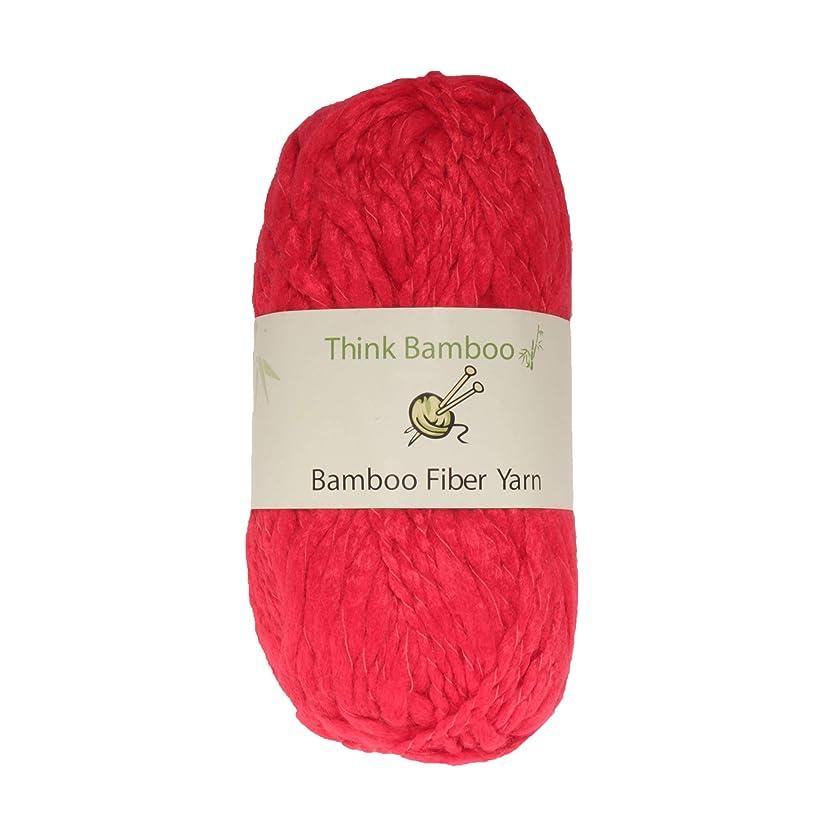 BambooMN Brand - Scarlet Thick Thin Bamboo Fiber Wool Yarn - 100g/Skein - 2 Skeins